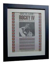 ROCKY IV+Stallone+Soundtrack+POSTER+AD+ORIGINAL 1985+FRAMED+EXPRESS GLOBAL SHIP