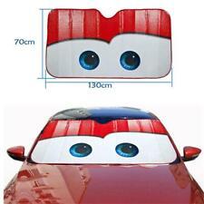 Car Windshield Sun Shade Sun Visor Anti-UV Red Big Eyes Funny Aluminium Foil New