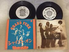 "LOT OF 2 GRAND FUNK RAILROAD 7"" EP VINYL RECORD JAPAN F/S PROMO WHITE LABEL GFR"