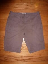 TOMMY BAHAMA, BROWN WOMEN'S SHORTS, 2 POCKETS, FLAT FRONT