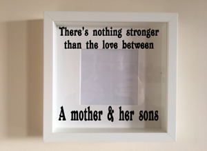 Box Frame Vinyl Decal Sticker Wall art Quote Theres nothing stronger than the