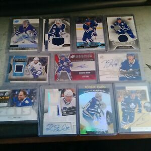 Toronto Maple Leafs11 card lot rookies and autos