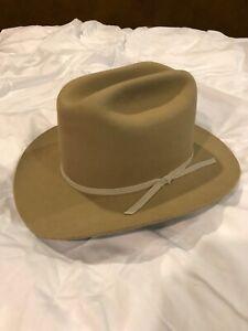 "Cowboy Hat Stratton Texas Ranger Western Style Felt hat Size 7 3/8"" LIGHTLY USED"