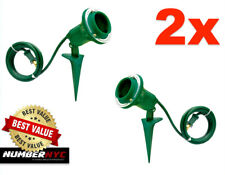 2x Ground Stake Flood Light Holder for Outdoor Yard Garden Lawn 90° Pivot GREEN