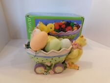 Fitz and Floyd Eggscapades Easter Jelly Bean Wagon -2003 - Item #2063/605