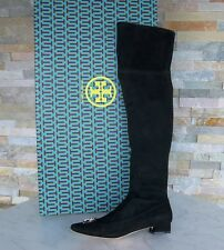 Tory Burch Size 37,5 7,5 over the Knee Boots Shoes Black New Previously