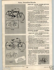1955 PAPER AD 4 PG Firestone Century Cruiser Bicycle Monark Deluxe Tank Model