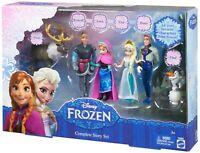 "Disney Frozen Complete Story Set Elsa Anna Kristoff Hans Olaf Sven 4"" Small Doll"