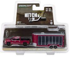 1:64 GreenLight *HITCH & TOW 12* Red 2016 Silverado w/DISPLAY ENCLOSED TRAILER