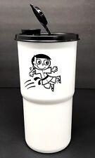 Tupperware Karate Thirstquake Tumbler 30 oz Cup White Black New