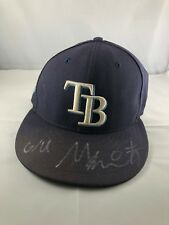 Mallex Smith autographed signed Game Used Hat MLB Tampa Bay Rays LOA