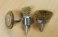 3PC Wire Cup Wheel Brush Rust Removal BBQ Clean Drill Attachments
