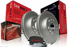 BREMAXX COATED DISC BRAKE ROTORS & PADS FRONT HOLDEN COMMODORE VT VX VY VZ 040