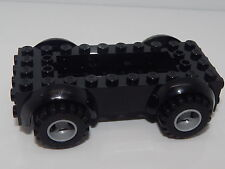 Lego Black Vehicle, Base 5 x 10 x 2 1/2 with Mudguards And Tires Starter Set