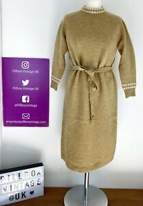 Vintage Size 10 Shetland Wool St Michael Dress Never Worn Still In Original Bag