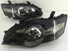 BLACK HEADLIGHTS JDM Subaru LIBERTY BPE BP5 BL5 STI HID Head Lamps LEGACY 03-05