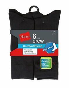Hanes Men's 6-Pack Dress Socks FreshIQ ComfortBlend Lightweight Casual Assorted