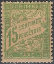 1893 1935 Taxe 15c vert jaune Papier GC MNH neuf** Y&T 30a cote 65€ cv +$75