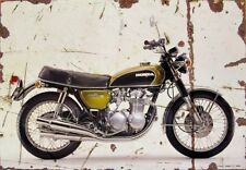 Honda CB500 Four 1971 Aged Vintage SIGN A3 LARGE Retro