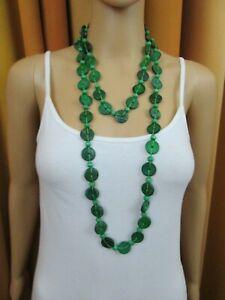 Damenkette, Collier, Holzkette, Halskette lang, zweifarbig, Modeschmuck