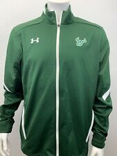 University of South Florida USF Bulls Under Armour Full Zip Green Jacket Size XL