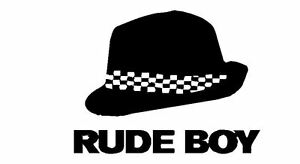 Rude Boy with Trilby hat Skinhead 70s 80s ska Vinyl Wall Decal Sticker