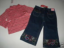 NWT Gymboree TYROLEAN LURE Pink Top Denim Jeans 18-24