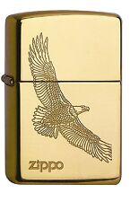 ZIPPO Feuerzeug Eagle Brass goldfarben Adler NEU in Deutschland PORTOFREI