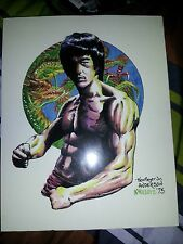 Original  BRUCE LEE Painting on canvas 8x10 Ken Meyer Jr/  Brent Anderson