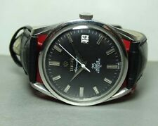 VINTAGE Titoni AIRMASTER ROTOMATIC DATE MENS Watch OLD USED B124 BLACK DIAL
