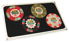 Four (4) Casino Poker CHIPS Case AIR TIGHT DISPLAY  NEW 3 pieces HOLDS 4 Chips *