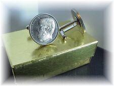 COIN CUFFLINKS ~GREEK  DRACHMA  ARISTOTLE ~ UNCIRCULATED coins USA seller