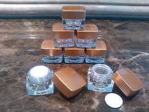 8pcs 5g Cosmetic Makeup Bottle Acrylic Jar Cream Travel Container Plastic Empty