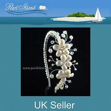 Wedding Freshwater Pearl Tiaras - Bridal Side Tiara by Pearl Island