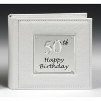Gift 50th Happy Birthday Photo Picture Album NEW  Holds 80 Photos