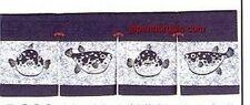 Japanese Sushi Bar Restaurant Globefish Seafood Noren Curtain pcos-44  S-1663