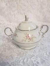 Mikasa VERSAILLES 9044  Sugar bowl w/ lid Pink Roses, Porcelain