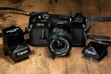 Canon F-1 with 28mm f2.8 and extra Speed Finder