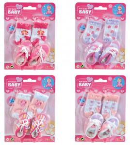 Simba 105560844 - New Born Baby - Boots And Socks, 4-sort New