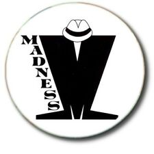 """MADNESS/ MOD/ NEW WAVE/ 1""""/ 25 mm BUTTON BADGE"""