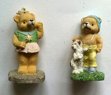 Set of 2 Teddy Bear Miniature Figurines from John Lewis Ornament girls gift idea