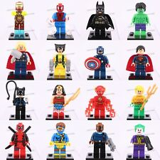 New 16 Pcs Marvel Avengers superheroes Batman Spider-man Superman Figures
