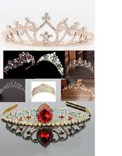 rose gold tiara or colours wedding bride headpeice gift various prom winter uk