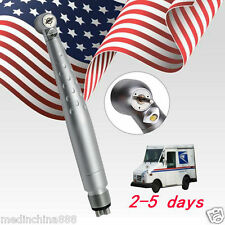 Dental LED handpiece Push 4 holes ceramic bearing Fit NSK turbine USA Fast SHIP