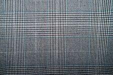 Gray Woven Herringbone Plaid #01 Lycra Stretch Apparel Fabric Bottom Weight BTY