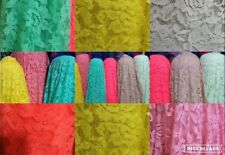 "NEW soft nylon spandex fashion stretch lace new floral design lace fabric 58"" w"