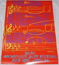 24 poster 33 near mint MONTREUX JAZZ FESTIVAL 1997 poster James Rizzi