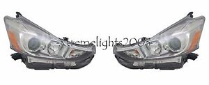 TOYOTA PRIUS V 2015-2017 HALOGEN HEADLIGHTS HEAD LAMPS FRONT LEFT RIGHT PAIR