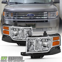 2009-2012 Ford Flex Halogen Type Headlights Headlamps Replacement Set Left+Right