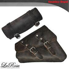 LaRosa Sportster Saddlebag & Tool Bag - 2004 UP Rustic Black Leather HD Left Bag